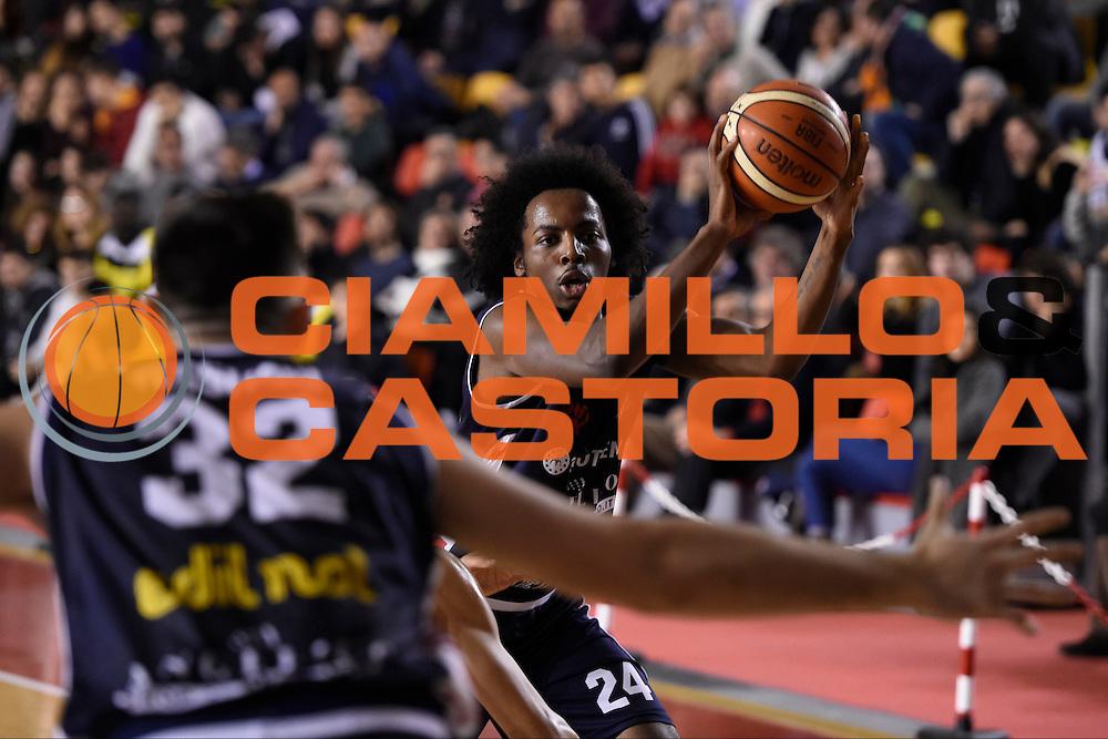 Carl Wheatle<br /> Unicusano Roma - Angelico Biella<br /> Campionato Basket LNP 2016/2017<br /> Roma 29/01/2017<br /> Foto Ciamillo-Castoria