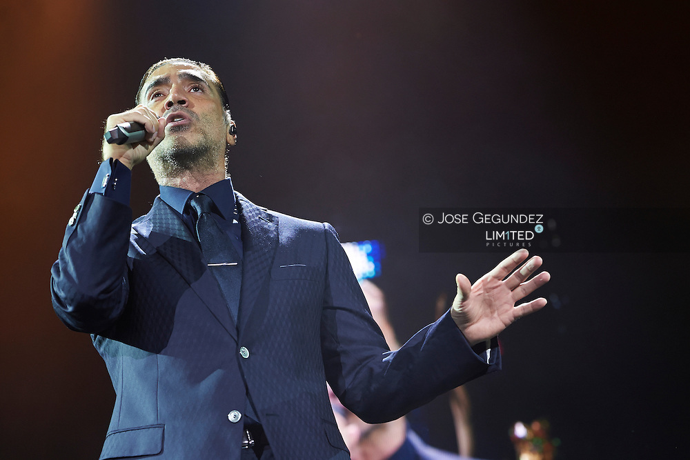 Alejandro Fernandez performs at Palacio de los Deportes on July 19, 2014 in Madrid