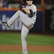 Pitcher Branden Pinder, New York Yankees, pitching during the New York Mets Vs New York Yankees MLB regular season baseball game at Citi Field, Queens, New York. USA. 18th September 2015. Photo Tim Clayton