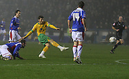 Carlisle - Saturday November 28th, 2008: Wesley Houlahan of Norwich City shoots for goal during the FA Cup second round match at Brunton Park, Carlisle. (Pic by Andrew Stunell/Focus Images)..