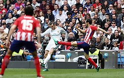 April 8, 2018 - Madrid, Madrid, Spain - Bale (Real Madrid) in action during the La Liga match between Real Madrid and Atletico de Madrid FC at Estadio Santiago Bernabeu. (Credit Image: © Manu Reino/SOPA Images via ZUMA Wire)
