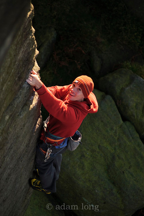Alex Honnold Soloing The Knock, E4, Burbage South, Peak District