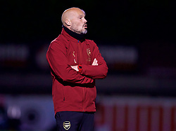 LONDON, ENGLAND - Friday, August 17, 2018: Arsenal's manager Freddie Ljungberg during the Under-23 FA Premier League 2 Division 1 match between Arsenal FC and Liverpool FC at Meadow Park. (Pic by David Rawcliffe/Propaganda)