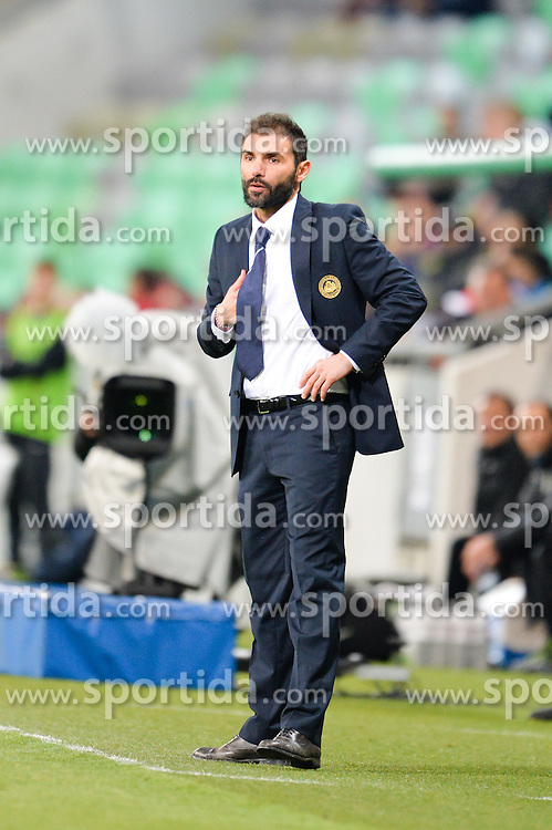 Pierangelo Manzaroli, head coach of San Marino during football match between NationalTeams of Slovenia and San Marino in Round 5 of EURO 2016 Qualifications, on March 27, 2015 in SRC Stozice, Ljubljana, Slovenia. Photo by Mario Horvat / Sportida