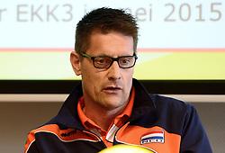 12-05-2014 NED: Persconferentie Nederlands vrouwen en mannen team, Arnhem<br /> Op papendal werden door beide bondcoaches en aanvoerders de plannen voor het nieuwe seizoen gepresenteerd / Edwin Benne
