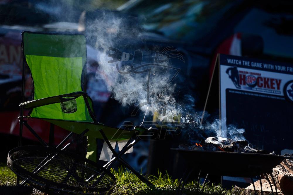 Brooklyn, MI  - Aug 19, 2012: Nascar Fans enjoy camping before the Pure Michigan 400 at Michigan International Speedway in Brooklyn, MI.