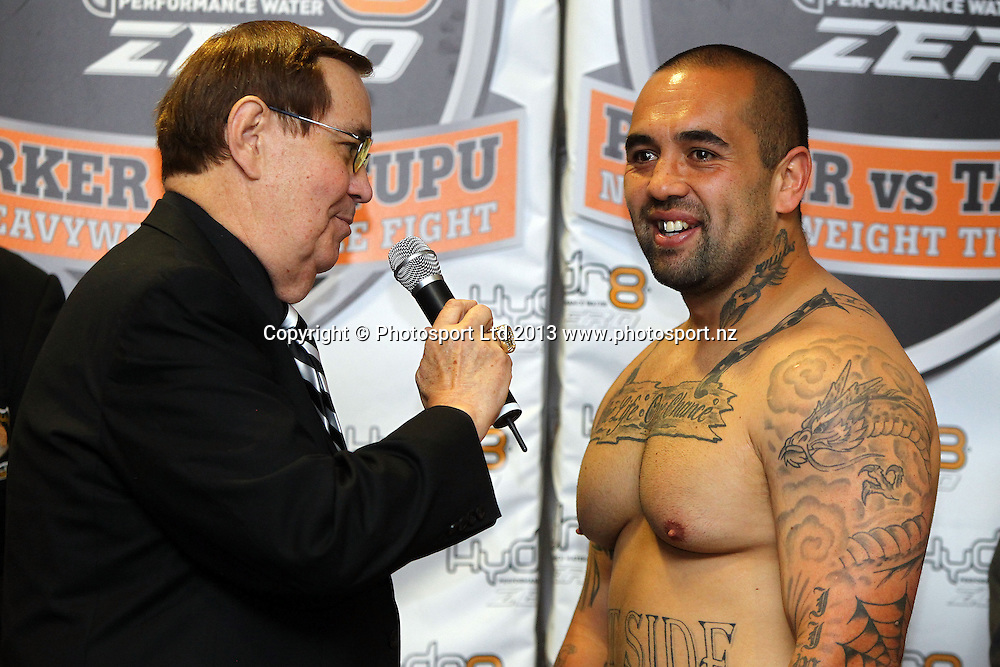 Jason WIlliams, Weigh In ahead of tomorrow nights Hydr8 Zero, Parker v Tatupu boxing match for the NZNBF title, Trusts Stadium, Auckland, 9 October 2013. Photo: William Booth/www.photosport.co.nz