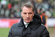 Brendan Rodgers during the Ladbrokes Scottish Premiership match between Heart of Midlothian and Celtic at Tynecastle Stadium, Gorgie, Scotland on 17 December 2017. Photo by Kevin Murray.
