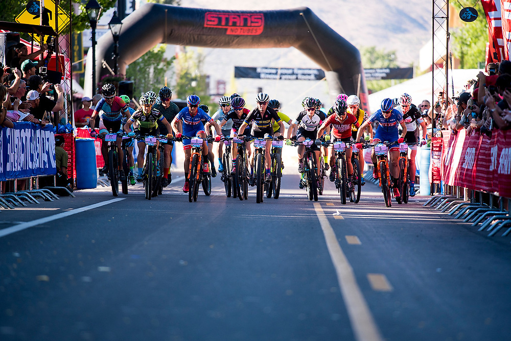 The Pro Women start the Fat Tire Crit on Friday.
