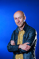 Edinburgh International Book Festival 2013 portrait of Christopher Brookmyre at Charlotte Square Garden <br /> <br /> Pic by Pako Mera