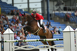 Englbrecht Roland, (AUT), Mevisto's Poorboy<br /> Team Competition round 1 and Individual Competition round 1<br /> FEI European Championships - Aachen 2015<br /> © Hippo Foto - Stefan Lafrentz<br /> 19/08/15