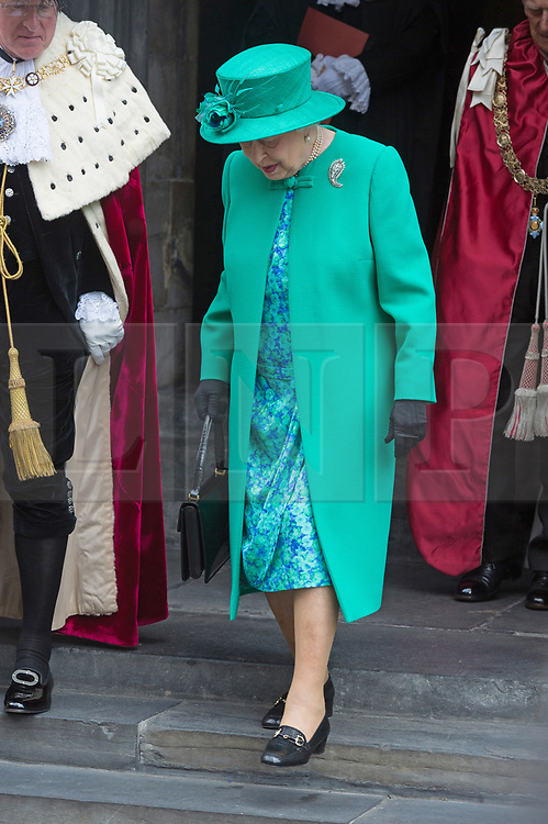 © Licensed to London News Pictures. 24/05/2017. London, UK. QUEEN ELIZABETH II attends service to mark the of the Order of the British Empire at St Paul's Cathedral. Photo credit: Ray Tang/LNP