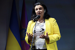 May 27, 2019 - Kyiv, Ukraine - Vice Prime Minister of Ukraine for European and Euro-Atlantic Integration Ivanna Klympush-Tsyntsadze attends the 2nd National Defence Hackathon, Kyiv, capital of Ukraine, May 27, 2019. Ukrinform. (Credit Image: © Hennadii Minchenko/Ukrinform via ZUMA Wire)
