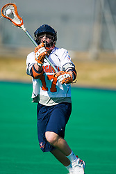 Virginia midfielder Mike Thompson (17) in action against Navy.  Virginia midfielder Mike Thompson (17) in action against Navy.  The Virginia Cavaliers scrimmaged the Navy Midshipmen in lacrosse at the University Hall Turf Field  in Charlottesville, VA on February 2, 2008.