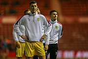 Burnley defender Michael Keane  during the Sky Bet Championship match between Middlesbrough and Burnley at the Riverside Stadium, Middlesbrough, England on 15 December 2015. Photo by Simon Davies.