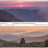 Bookmark - 7x2 Double Sided Full Color. View from Mount Washington at Sunrise.