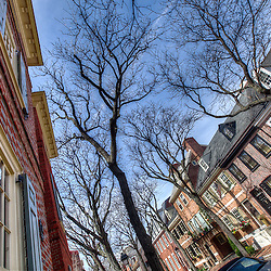 Society Hill rowhouses in Philadelphia, PA.