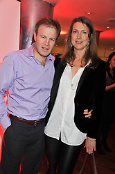 TOM BRADBY and his wife CLAUDIA BRADBY at the Costa Book Awards 2012 held at Quaglino's, 16 Bury Street, London SW1 on 29th January 2013.