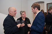 BEN LANGLANDS; NIKKI BELL; HENRY HUDSON, Hominidae- Henry Hudson private view. TJ Boulting. Riding House St. London. 20 November 2012.