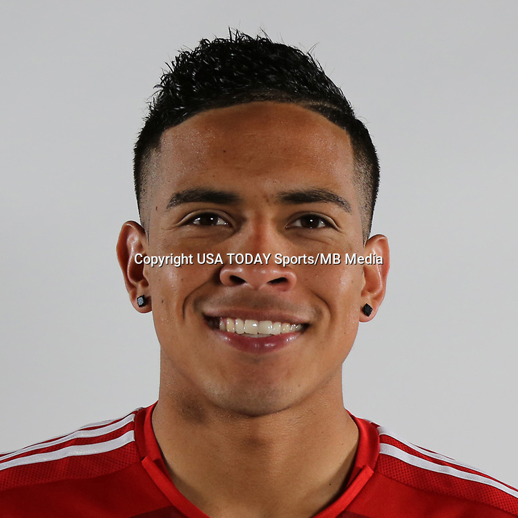 Feb 16, 2015; USA; FC Dallas player Victor Ulloa poses for a photo.