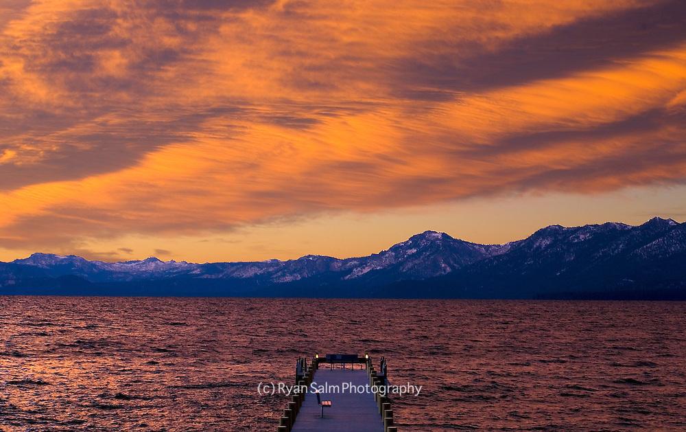 Painted Sunset<br /> Lake Tahoe