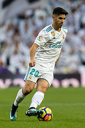 Marco Asensio of Real Madrid during the La Liga Santander match between Real Madrid CF and Sevilla FC on December 09, 2017 at the Santiago Bernabeu stadium in Madrid, Spain.