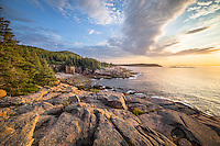 Acadia National Park has one of the most beautiful shorelines in the world. I caught this sunrise light from the other side of the often photographed Monument Cove.