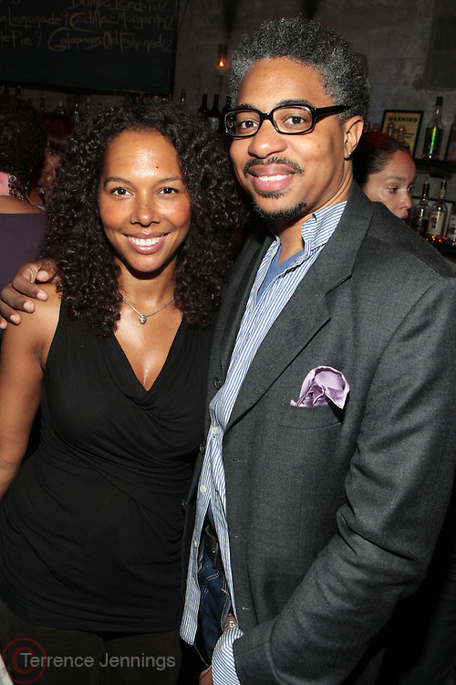 28 April 2011- New York,  NY- l to r: Melissa Kramer and Sekou Writes at The Sparkling Celebration for the Birthday of Harriette Cole held at the Galapagos Art Space on April 27, 2011 in Brooklyn, NY Photo Credit: Terrence Jennings