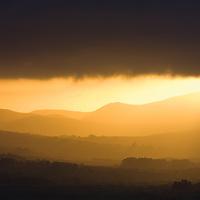Mystical golden sunrise highlands ring of kerry ireland / kr045