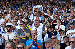 A general view of Leeds United fans in the stands during the Sky Bet Championship match at Elland Road, Leeds.