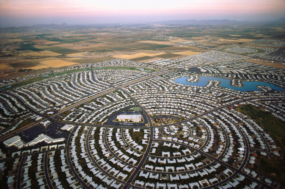 Sun City, Arizona. One of the nation's first planned retirement communities for active seniors. USA.