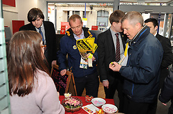 Willie Rennie, Dunfermline, 29-4-2016<br /> <br /> Tim Farron and Willie Rennie try some sweets in Dunfermline<br /> <br /> (c) David Wardle | Edinburgh Elite media