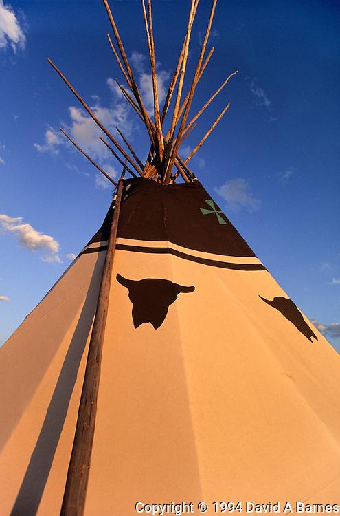 Plains Indian tepee, Montana, USA