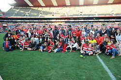 28-07-18 Emirates Airline Park, Johannesburg. Super Rugby semi-final Emirates Lions vs NSW Waratahs. The Lions team and family get together for a group photo.<br />  Picture: Karen Sandison/African News Agency (ANA)