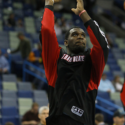 02 February 2009:  Portland Trailblazers center Greg Oden (52) during warm ups prior to tip off of a 97-89 loss by the New Orleans Hornets to the Portland Trail Blazers at the New Orleans Arena in New Orleans, LA.