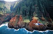 Helicopter, Napali Coast, Kauai, Hawaii