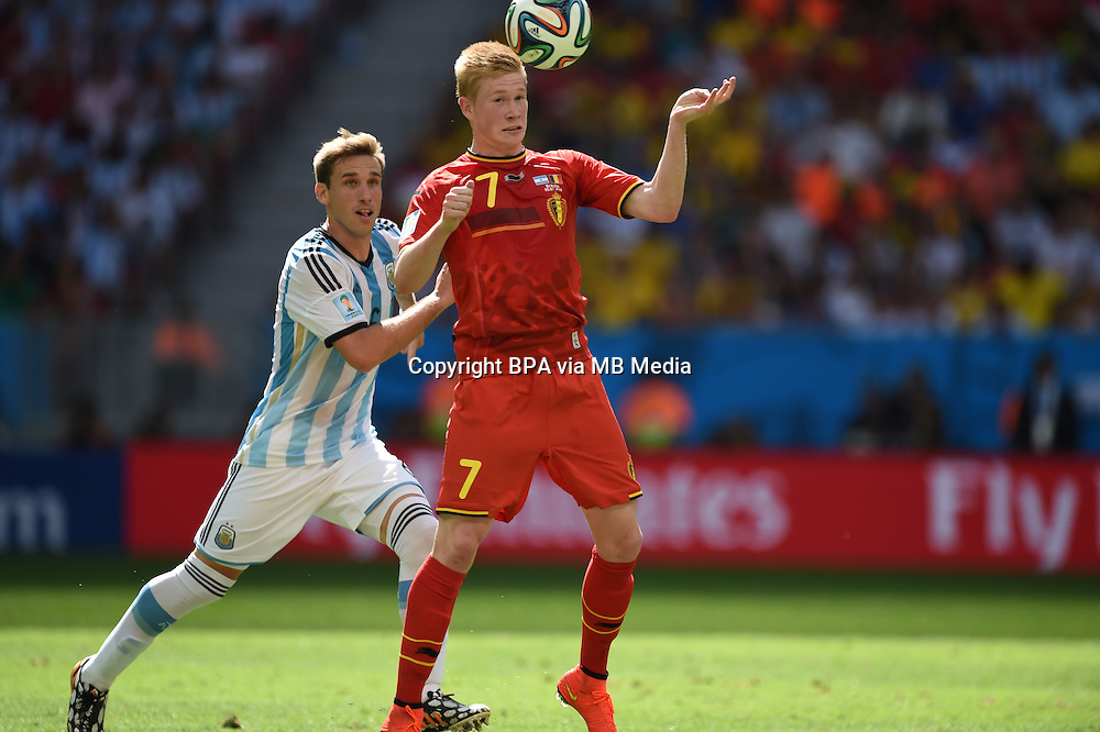 Kevin de Bruyne. Argentina v Belgium, quarter-final. FIFA World Cup 2014 Brazil. National stadium, Brasilia. 05 July 2014
