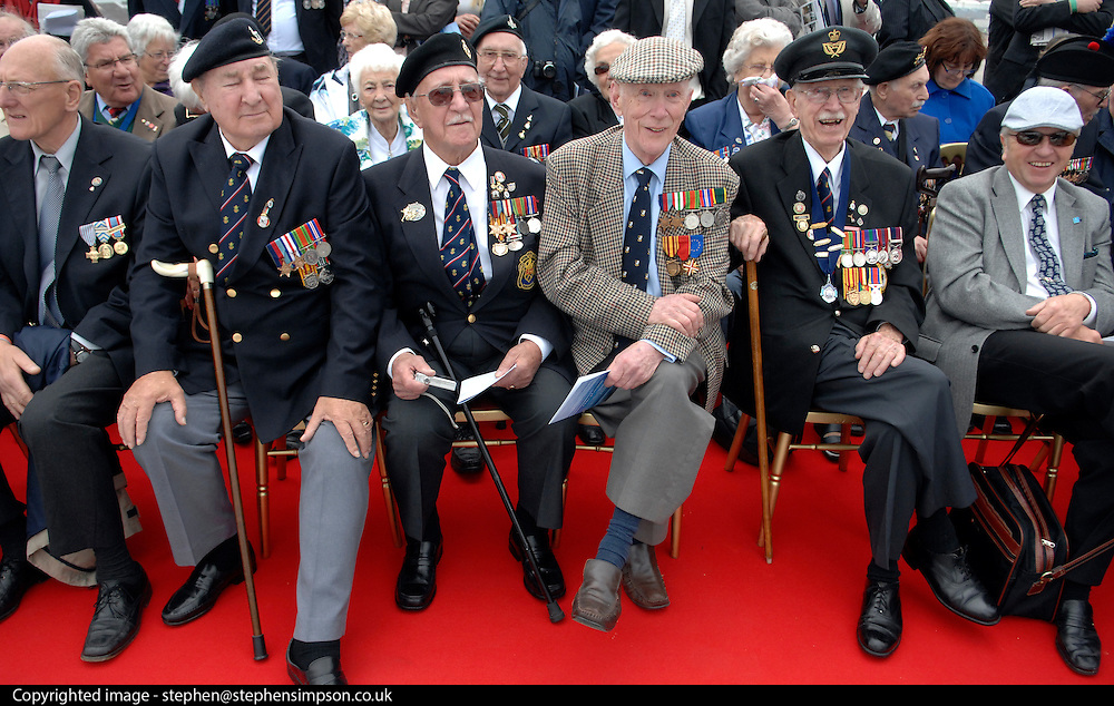 27/05/2010..A service onboard the ferry carrying World War Two Veterans at Dunkirk before the little ships passed by and doves and petals were released...