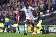Milton Keynes Dons Dons midfielder Ousseynou Cisse (8) looks to release the ball during the EFL Sky Bet League 1 match between Milton Keynes Dons and Portsmouth at stadium:mk, Milton Keynes, England on 10 February 2018. Picture by Dennis Goodwin.