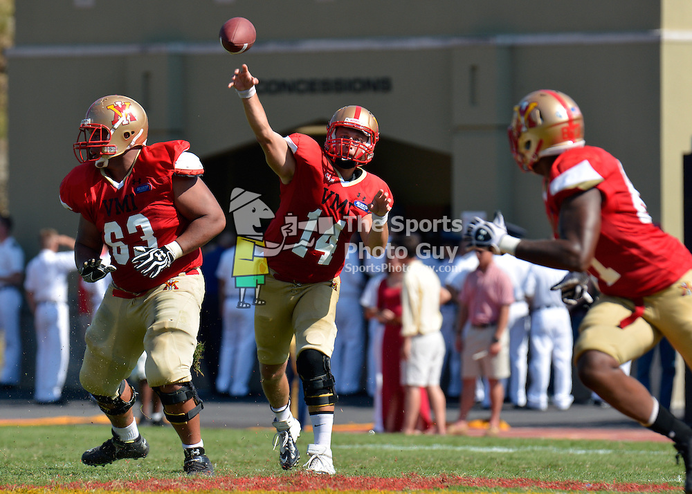 NCAA FCS: VMI fends off Glenville State with goal-line stand, 34-27 - With this completion, Eric Kordenbrock breaks VMI's career completions record with 466.