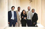 LONDON, ENGLAND - JUNE 24:  Young Laureates (l-r) Hosam Zowawi, Arthur Zang, Neeti Kailas, Francesco Sauro and Olivier Nsengimana pose for a photo at the announcement of the 2014 Rolex Awards for Enterprise at The Royal Society on June 24, 2014 in London, England.  (Photo by Tim P. Whitby/Getty Images for Rolex)