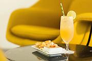 Ming Margarita (design to go with upcoming Forbidden City exhibit): hornitos, orange liqueur, ginger, citrus, brown sugar, w/ ginger sugar rim