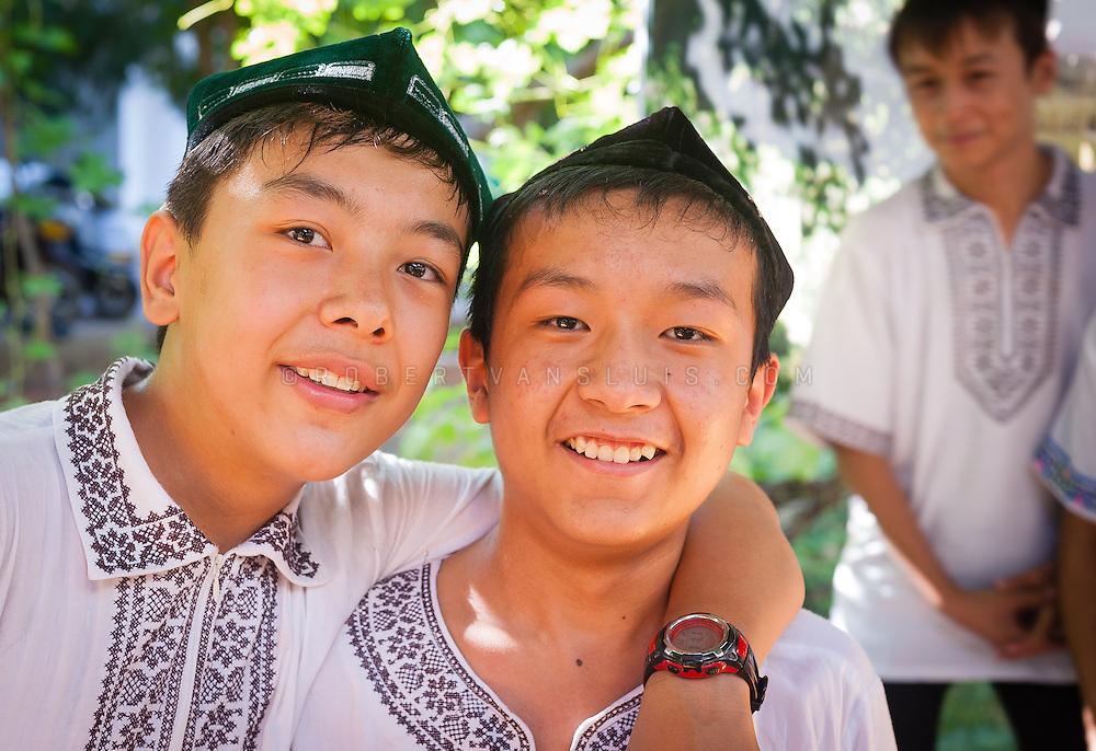 Uyghur boys, Turpan, Xinjiang, China