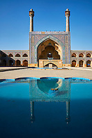 Iran, province d'Ispahan, Ispahan, Mosquée du Vendredi, classée Patrimoine Mondial de l'UNESCO // Iran, Isfahan, Friday mosque, world heritage of the UNESCO