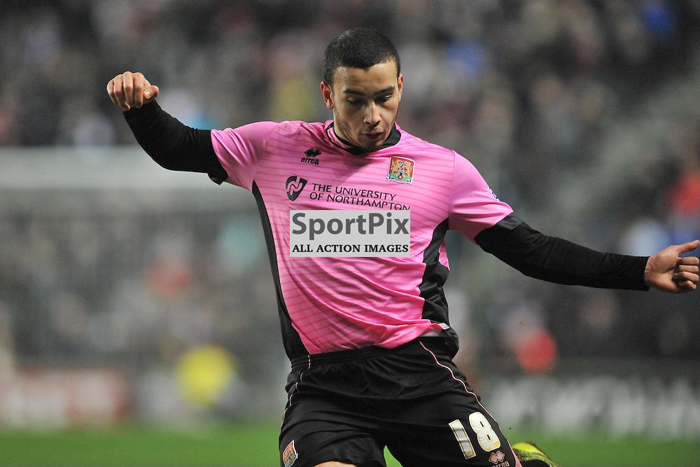 ROD McDONALD NORTHAMPTON TOWN,   MK Dons v Northampton Town, FA Cup Emirates FA Cup Third round Repay, Stadium MK, Tuesday 19th January 2016
