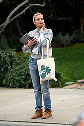 ** PREMIUM EXCLUSIVE RATES APPLY ** A tired looking Cameron Diaz is seen for the first time since becoming a mother. The actress was seen leaving a friend's house carrying what appeared to be gifts for her newborn. 16 Jan 2020 Pictured: Cameron Diaz. Photo credit: Dean/Rachpoot/MEGA TheMegaAgency.com +1 888 505 6342