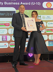 Mayo Business Awards 2018 Best Hospitality Business Award Sponsored By Shell Ltd, (Under 10 Full Time Staff Equivalent) was won by The Dining Room, Castlebar.The award was Presented By Bob Blachford to Shirley Stirzaker Dining Room at the awards nightin the Broadhaven Hotel Belmullet.<br />