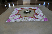 Frangipani petals design in lobby of Amaya Beach Resort and Spa hotel, Pasikudah Bay, Eastern Province, Sri Lanka, Asia