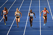 Dina Asher Smith (GBR) win the Gold Medal in 100m Women during the European Championships 2018, at Olympic Stadium in Berlin, Germany, Day 1, on August 7, 2018 - Photo Julien Crosnier / KMSP / ProSportsImages / DPPI