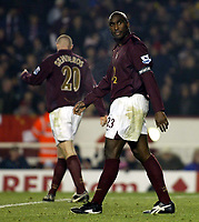 Photo: Chris Ratcliffe.<br />Arsenal v Wigan Athletic. Carling Cup. 24/01/2006.<br />Sol Campbell is gutted at losing.